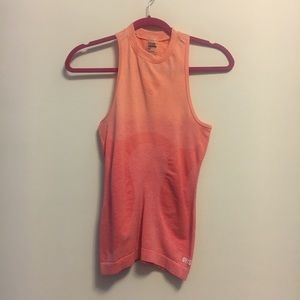 Gymshark ombré orange vest top sz small